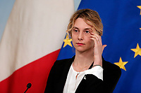 Marianna Madia, minister of the Public Administration<br /> Roma 21/11/2017. Palazzo Chigi. Conferenza stampa al termine dell'incontro Governo - Sindacati<br /> Rome November 21st 2017. Press conference at the end of the meeting between Government and Trade Unions<br /> Foto Samantha Zucchi Insidefoto