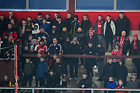 Fleetwood Town fans looks on <br /> <br /> Photographer Richard Martin-Roberts/CameraSport<br /> <br /> The EFL Sky Bet League One - Fleetwood Town v Coventry City - Tuesday 27th November 2018 - Highbury Stadium - Fleetwood<br /> <br /> World Copyright &not;&copy; 2018 CameraSport. All rights reserved. 43 Linden Ave. Countesthorpe. Leicester. England. LE8 5PG - Tel: +44 (0) 116 277 4147 - admin@camerasport.com - www.camerasport.com