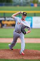 Mesa Solar Sox pitcher Harrison Cooney (48) delivers a pitch during an Arizona Fall League game against the Peoria Javelinas on October 21, 2015 at Peoria Stadium in Peoria, Arizona.  Peoria defeated Mesa 5-3.  (Mike Janes/Four Seam Images)