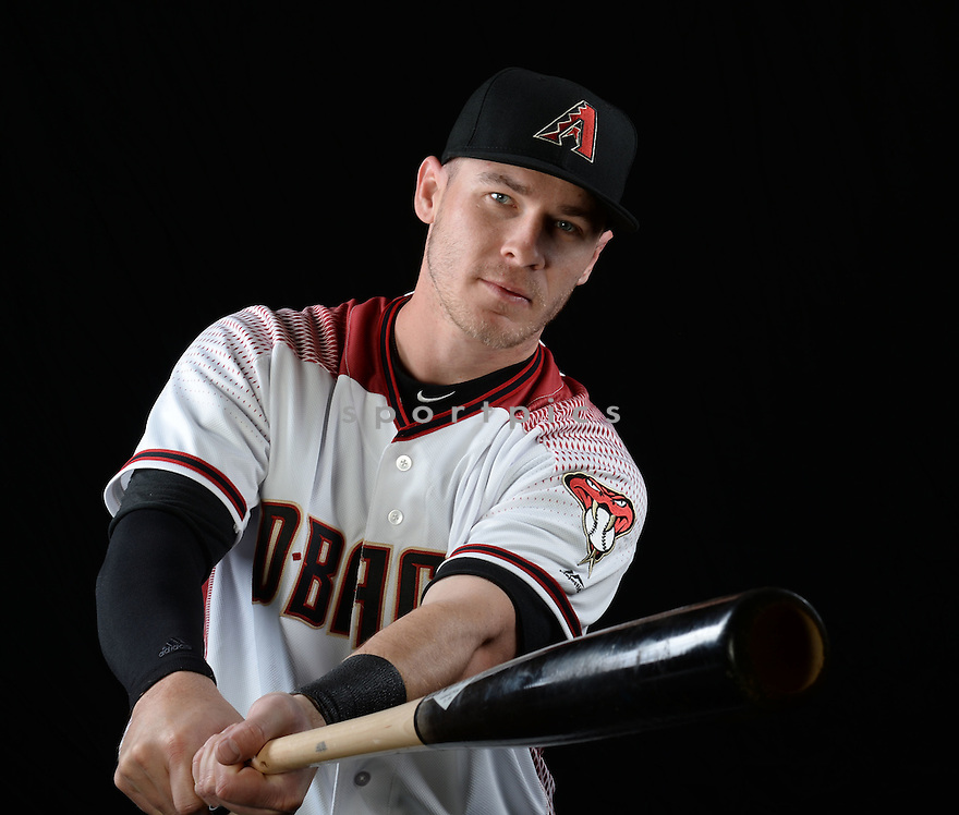 Arizona Diamondbacks Chris Hermann (10) during photo day on February 28, 2016 in Scottsdale, AZ.