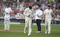 England's Moeen Ali celebrates taking the wicket of South Africa's Temba Bavuma by running on to congratulate the catcher, Joe Root<br /> <br /> Photographer Stephen White/CameraSport<br /> <br /> Investec Test Series 2017 - Second Test - England v South Africa - Day 3 - Sunday 16th July 2017 - Trent Bridge - Nottingham<br /> <br /> World Copyright &copy; 2017 CameraSport. All rights reserved. 43 Linden Ave. Countesthorpe. Leicester. England. LE8 5PG - Tel: +44 (0) 116 277 4147 - admin@camerasport.com - www.camerasport.com
