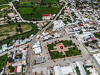 Moctezuma, Sonora Mexico. Sierra Madre Occidental.<br /> (Foto: LuisGutierrez/NortePhoto.com)<br />  <br /> ...<br /> <br /> <br /> Tiro de alto &aacute;ngulo del scape de la ciudad contra el cielo. Townscape.<br /> High Angle Shot Of Townscape Against Sky