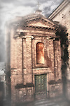 A church in Penne, a town and comune in the province of Pescara, in the Abruzzo Region of central Italy. It sits in the hills between the Apennine Mountains and the Adriatic Sea. Many of Penne's churches are from the 12th century