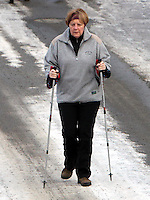 Angela Merkel enjoys some Christmas vacation in Saint Moritz - Switzerland