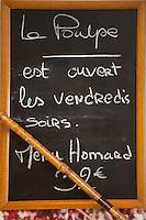 Europe/France/Bretagne/56/Morbihan/Lorient: Restaurant: Le Poulpe - Alexandre Nagy - lE Menu du Vendredi soir sur l'Ardoise: Menu Homard