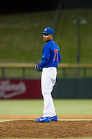 AZL Cubs relief pitcher Danis Correa (71) prepares to deliver a pitch to the plate against the AZL Mariners on August 4, 2017 at Sloan Park in Mesa, Arizona. AZL Cubs defeated the AZL Mariners 5-3. (Zachary Lucy/Four Seam Images)