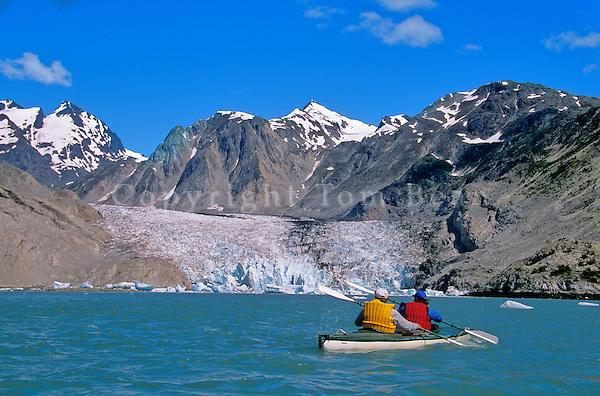 Sea Kayaking in Muir Inlet near the face of McBride Glacier, Glacier Bay National Park, Alaska, AGPix_0158.