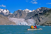 Sea Kayaking in Muir Inlet near the face of McBride Glacier, Glacier Bay National Park, Alaska, AGPix_0158.