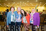 Trudi Lalor meets local Ballyduff Irish music fans Catherine O'Grady, Vanessa Meehan and Teresa Meehan.