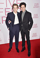 WESTWOOD, CA - MARCH 07: Dylan Spouse (L) and Cole Sprouse attend the Premiere Of Lionsgate's 'Five Feet Apart' at Fox Bruin Theatre on March 07, 2019 in Los Angeles, California.<br /> CAP/ROT/TM<br /> &copy;TM/ROT/Capital Pictures