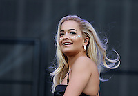 RITA ORA performs in front of the crowd during The New Look Wireless Festival at Finsbury Park, London, England on 28 June 2015. Photo by Andy Rowland.