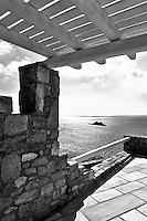 traditional veranda with sea view