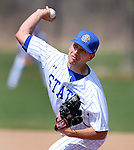 BROOKINGS, SD - MAY 9: Pitcher Adam Bray #31 for South Dakota State delivers a pitch against Western Illinois Friday afternoon in Brookings. (Photo by Dave Eggen/Inertia)