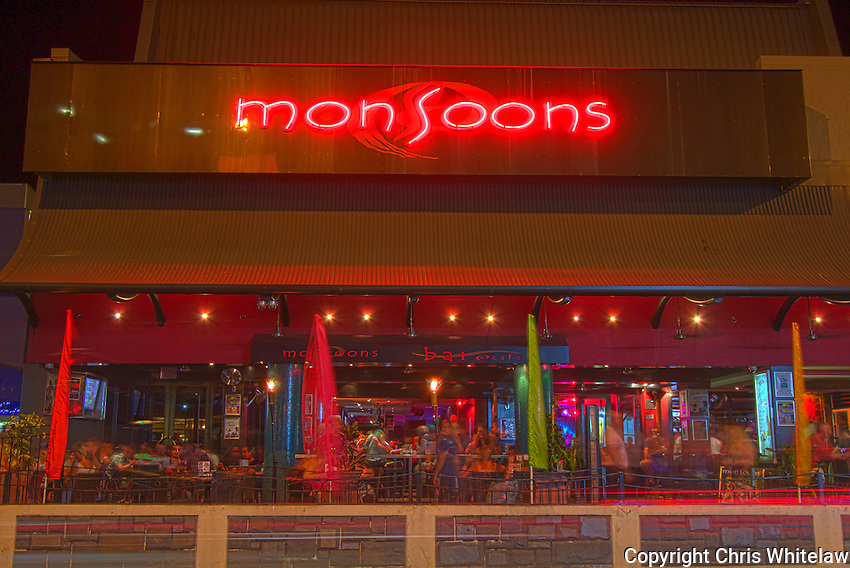 Monsoons Bar and Cafe on Mitchell Street, Darwin NT
