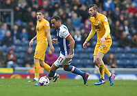 Blackburn Rovers' Elliott Bennett and Preston North End's Tom Barkhuizen<br /> <br /> Photographer Stephen White/CameraSport<br /> <br /> The EFL Sky Bet Championship - Blackburn Rovers v Preston North End - Saturday 18th March 2017 - Ewood Park - Blackburn<br /> <br /> World Copyright &copy; 2017 CameraSport. All rights reserved. 43 Linden Ave. Countesthorpe. Leicester. England. LE8 5PG - Tel: +44 (0) 116 277 4147 - admin@camerasport.com - www.camerasport.com