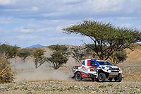 5th January 2020, Jeddah, Saudi Arabia;  320 Chabot Ronan fra, Pillot Gilles fra, Toyota Hilux, Overdrive Toyota during Stage 1 of the Dakar 2020 between Jeddah and Al Wajh, 752 km  - Editorial Use