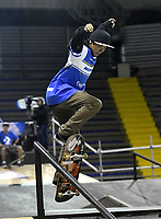 BOGOTA - COLOMBIA - 12 - 08 - 2017: Dixel Tejeiro, Skater de Nicaragua, durante competencia en el Primer Campeonato Panamericano de Skateboarding, que se realiza en el Palacio de los Deportes en la Ciudad de Bogota. / Dixel Tejeiro, Skater from Nicaragua, during a competitions in the First Pan American Championship of Skateboarding, that takes place in the Palace of Sports in the City of Bogota. Photo: VizzorImage / Luis Ramirez / Staff.