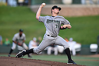 Dayton Dragons pitcher Nick Travieso (21) delivers a pitch during a game against the South Bend Silver Hawks on August 20, 2014 at Four Winds Field in South Bend, Indiana.  Dayton defeated South Bend 5-3.  (Mike Janes/Four Seam Images)
