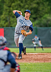 22 June 2017: Brooklyn Cyclones pitcher Trent Johnson on the mound against the Vermont Lake Monsters at Centennial Field in Burlington, Vermont. The Cyclones defeated the Lake Monsters 5-3 in NY Penn League action. Mandatory Credit: Ed Wolfstein Photo *** RAW (NEF) Image File Available ***