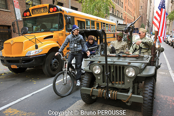 Amérique, Etats Unis, état de New York, New York, Manhattan, jeep//America, United States, New York state, New York city, Manhattan, military jeep