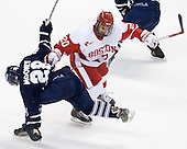 David Mooney (Toronto - 28), Matt Ronan (BU - 20) - The Boston University Terriers defeated the visiting University of Toronto Varsity Blues 9-3 on Saturday, October 2, 2010, at Agganis Arena in Boston, MA.