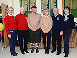 Captain Dan Reynolds and Lady Captain Sandra Kierans pictured with visiting captains Paddy Nelson and Eleanor Brannigan County Louth and Ben Bailey and Maureen O'Brien Laytown and Bettystown at the Captain's Drive in at Seapoint Golf Club. Photo:Colin Bell/pressphotos.ie
