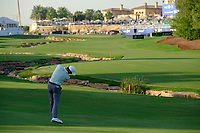 Rory McIlroy (NIR) on the 18th fairway during the 1st round of the DP World Tour Championship, Jumeirah Golf Estates, Dubai, United Arab Emirates. 15/11/2018<br /> Picture: Golffile | Fran Caffrey<br /> <br /> <br /> All photo usage must carry mandatory copyright credit (© Golffile | Fran Caffrey)