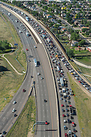 Traffic jam on i-25 north of Denver. Aug 20, 2014. 812756