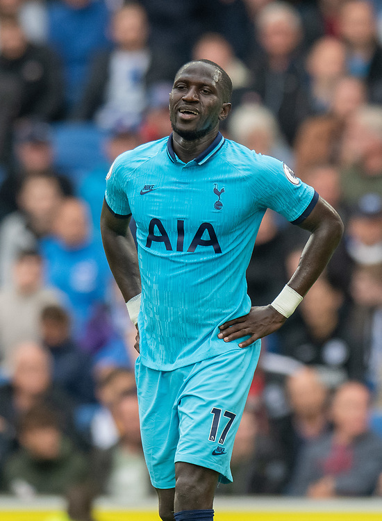 Tottenham Hotspur's Moussa Sissoko <br /> <br /> Photographer David Horton/CameraSport<br /> <br /> The Premier League - Brighton and Hove Albion v Tottenham Hotspur - Saturday 5th October 2019 - The Amex Stadium - Brighton<br /> <br /> World Copyright © 2019 CameraSport. All rights reserved. 43 Linden Ave. Countesthorpe. Leicester. England. LE8 5PG - Tel: +44 (0) 116 277 4147 - admin@camerasport.com - www.camerasport.com