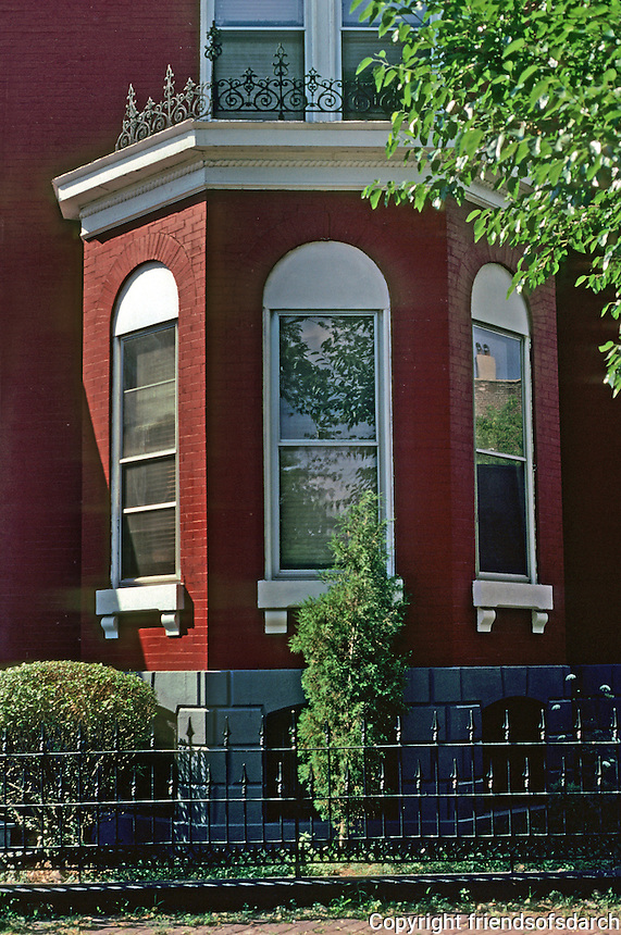 St. Louis: Hyde Park--detail of bay window on house. Photo '77.