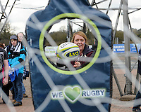 20130317 Copyright onEdition 2013©.Free for editorial use image, please credit: onEdition..Fans try out their skils at the LV= passing game in the LV= zone during the LV= Cup Final between Harlequins and Sale Sharks at Sixways Stadium on Sunday 17th March 2013 (Photo by Rob Munro)..For press contacts contact: Sam Feasey at brandRapport on M: +44 (0)7717 757114 E: SFeasey@brand-rapport.com..If you require a higher resolution image or you have any other onEdition photographic enquiries, please contact onEdition on 0845 900 2 900 or email info@onEdition.com.This image is copyright onEdition 2013©..This image has been supplied by onEdition and must be credited onEdition. The author is asserting his full Moral rights in relation to the publication of this image. Rights for onward transmission of any image or file is not granted or implied. Changing or deleting Copyright information is illegal as specified in the Copyright, Design and Patents Act 1988. If you are in any way unsure of your right to publish this image please contact onEdition on 0845 900 2 900 or email info@onEdition.com