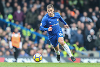 Eden Hazard of Chelsea during the Premier League match between Chelsea and Newcastle United at Stamford Bridge, London, England on 2 December 2017. Photo by David Horn.