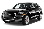 2018 Audi SQ5 Premium Plus 5 Door SUV angular front stock photos of front three quarter view