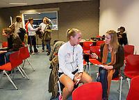 Februari 04, 2015, Apeldoorn, Omnisport, Fed Cup, Netherlands-Slovakia, Predraw persconferentie, Richel Hogenkamp<br /> Photo: Tennisimages/Henk Koster