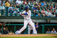 Jorge Polanco (11) of the Chattanooga Lookouts bats during a game between the Jackson Generals and Chattanooga Lookouts at AT&T Field on May 7, 2015 in Chattanooga, Tennessee. (Brace Hemmelgarn/Four Seam Images)