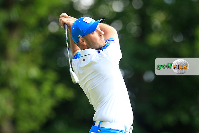 Ian Ellis (ENG) during round 1 of the 2015 BMW PGA Championship over the West Course at Wentworth, Virgina Water, London. 21/05/2015<br /> Picture Fran Caffrey, www.golffile.ie: