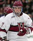 Sean Malone (Harvard - 17) - The Harvard University Crimson defeated the visiting Boston College Eagles 5-2 on Friday, November 18, 2016, at Bright-Landry Hockey Center in Boston, Massachusetts.{headline] - The Harvard University Crimson defeated the visiting Boston College Eagles 5-2 on Friday, November 18, 2016, at Bright-Landry Hockey Center in Boston, Massachusetts.
