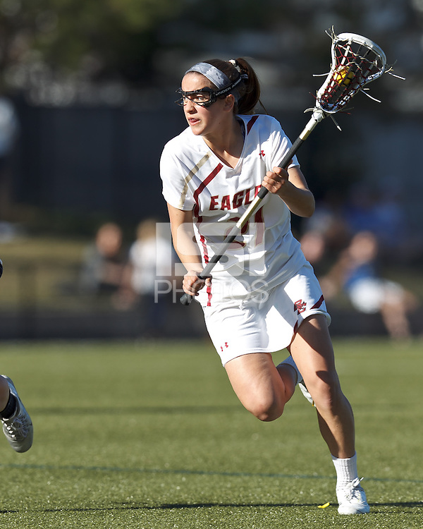 Boston College midfielder Caroline Margolis (21) on the attack.