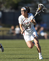 Boston College midfielder Caroline Margolis (21) on the attack.