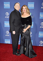 PALM SPRINGS, CA - JANUARY 03: Burt Sugarman (L) and Mary Hart attend the 30th Annual Palm Springs International Film Festival Film Awards Gala at Palm Springs Convention Center on January 3, 2019 in Palm Springs, California.<br /> CAP/ROT/TM<br /> &copy;TM/ROT/Capital Pictures