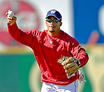 18 March 2007: Washington Nationals infielder Felipe Lopez practices run-down drills prior to facing the Florida Marlins at Space Coast Stadium in Viera, Florida...Mandatory Photo Credit: Ed Wolfstein Photo