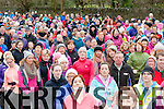 The crowd head off at the start of the Operation Transformation walk in Killarney on Saturday morning