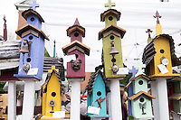 Cotton District Arts Festival (CDAF): bird house vendors.<br />