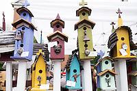 Cotton District Arts Festival (CDAF): bird house vendors.<br />  (photo by Megan Bean / &copy; Mississippi State University)