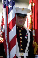 US MARINE CORPS, US MARINES.  No model release, for editorial use only. Funeral for Marine at San Bruno CA National Cemetary.  No model releases.