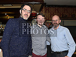 Dan bannon, Shane Maguire and Ken Tobin pictured at the Mattock Rangers Awards night in The Grove House Dunleer. Photo:Colin Bell/pressphotos.ie