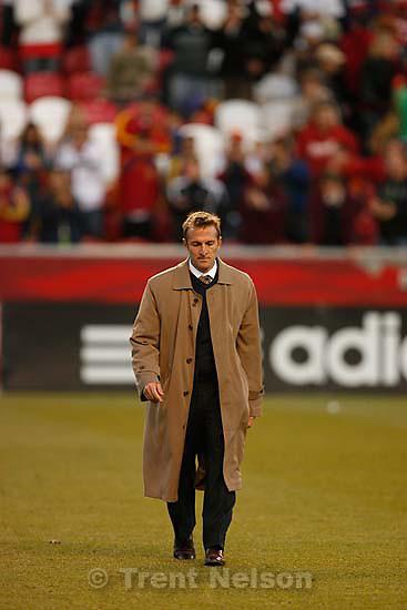 Real Salt Lake vs. Columbus Crew, MLS Soccer playoffs Saturday, October 31 2009 at Rio Tinto Stadium in Sandy. coach jason kreis
