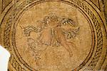Roman mosaic Eros and Psyche archaeological display inside the Alcazar palace, Cordoba, Spain