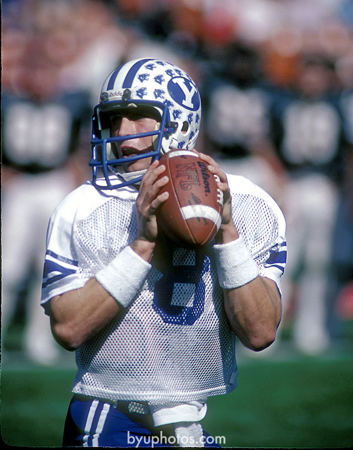 Young, Steve Oct 83 24A<br /> <br /> 8 Steve Young<br /> <br /> Photo by: Mark Philbrick/BYU<br /> &copy; BYU PHOTO 2010<br /> All Rights Reserved<br /> photo@byu.edu  (801)422-7322