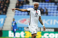 Andre Ayew of Swansea City during the Sky Bet Championship match between Wigan Athletic and Swansea City at The DW Stadium in Wigan, England, UK. Saturday 2 November 2019